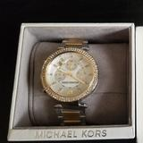 Michael Kors Jewelry   Michael Kors Parker Two Tone Silver And Gold Watch   Color: Gold/Silver   Size: Os