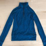 Lululemon Athletica Jackets & Coats | Lululemon Quarter Zip Jacket | Color: Black/Blue | Size: 2
