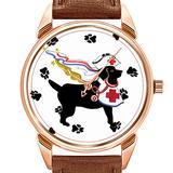 Mens Watches Fashion Luxury Quartz Watch Business Waterproof Luminous Watch Men Brown Leather Watch Christmas Gulliver's Angels Therapy Dog Wrist Watch