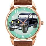 Mens Watches Fashion Luxury Quartz Watch Business Waterproof Luminous Watch Men Brown Leather Watch Christmas 1955 Chevy Bel Air Wristwatches
