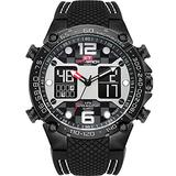KAT-WACH Freestyle Watch Band for Mens, Big Face Digital Sport Watches Military Style, 50m Waterproof Watch, Dual Time Zone, Analog Display, Multi-Function Watch KT717N