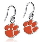 Women's Dayna Designs Clemson Tigers Silver Enamel Dangle Earrings