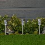 Sterno Home Stainless Steel Solar Powered LED Pathway Light Metal/Steel in Gray, Size 9.13 H x 2.2 W x 2.2 D in | Wayfair GL28551SS24