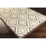 World Menagerie Seefeldt Geometric Handmade Tufted Ivory Area Rug Viscose/Wool in Brown/White, Size 96.0 H x 30.0 W x 0.63 D in   Wayfair