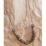 Boho Treasures by Wise Creations Women's Necklaces Chocolate - Chocolate Bronze Love In Morse Code Stainless Steel Necklace
