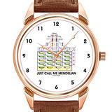 Mens Watches Fashion Luxury Quartz Watch Business Waterproof Luminous Watch Men Brown Leather Watch Christmas Just Call Me Mendelian (Punnett Square Genetics) Wristwatch