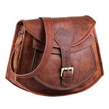 Leather crossbody bags for women A perfect Brown Leather purses and handbags for Everyday use   Handmade Leather handbags for women   Unique and Stylish brown leather purse By HULSH