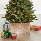 Christmas Wooden Tree Collar - White - Grandin Road