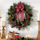 Christmas Rustic Wreath - Grandin Road