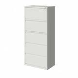 CommClad 5-Drawer Lateral Filing Cabinet Metal/Steel in White, Size 67.63 H x 30.0 W x 18.63 D in   Wayfair A30F633DB3484D47BD307C052BAF889F