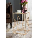 Vera Gold Leaf End Table in Antique Gold - Safavieh FOX2568A