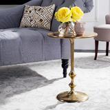 Hydra Round Side Table in Antique Brass - Safavieh FOX5520A