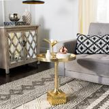 Corvus Round Side Table in Antique Brass - Safavieh FOX5519A