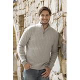 Men's wool blend quarter-zip sweater, 'Legend'