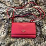 Coach Bags | Red Coach Iphone Crossbody Wallet Purse Cardholder | Color: Red | Size: Os