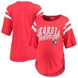 Georgia Bulldogs Touch by Alyssa Milano Women's Maternity Linebacker Half-Sleeve T-Shirt - Red