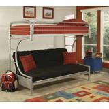 Eclipse Twin/Full/Futon Bunk Bed in Silver - Acme Furniture 02091W-SI