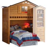 Tree House Loft Bed (Twin Bottom Bed Not Included) in Rustic Oak - Acme Furniture 10160