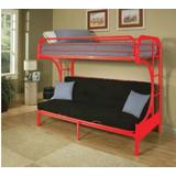 Eclipse Twin/Full/Futon Bunk Bed in Red - Acme Furniture 02091W-RD