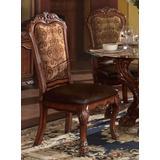Dresden Side Chair (Set of 2) in PU & Cherry Oak - Acme Furniture 60012