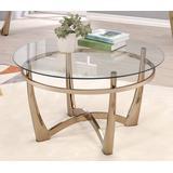 Orlando II Coffee Table in Champagne & Clear Glass - Acme Furniture 81610