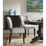 Drake Side Chair (Set of 2) in Gray Fabric & Espresso - Acme Furniture 16252