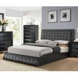 Tirrel Queen Bed in Black PU - Acme Furniture 20660Q