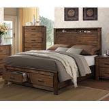 Merrilee Queen Bed w/ Storage in Oak - Acme Furniture 21680Q