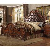 Dresden Queen Bed in PU & Cherry Oak - Acme Furniture 23140Q