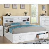Louis Philippe III - Queen Bed w/ Storage in White - Acme Furniture 24490Q