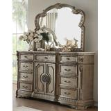 Northville Dresser w/ Wooden Top in Antique Champagne - Acme Furniture 26938