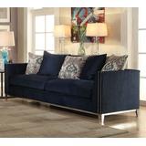 Phaedra Sofa w/ 5 Pillows in Blue Fabric - Acme Furniture 52830