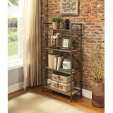 Itzel Bookshelf (4-Shelves) in Antique Oak & Sandy Gray - Acme Furniture 97163
