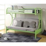Eclipse Twin/Full/Futon Bunk Bed in Green - Acme Furniture 02091W-GR