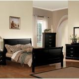 Louis Philippe III Eastern King Bed in Black - Acme Furniture 19497EK