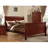 Louis Philippe III Eastern King Bed in Cherry - Acme Furniture 19517EK