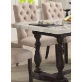 Gerardo Side Chair (Set of 2) in Beige Linen & Weathered Espresso - Acme Furniture 60822