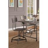 Jonquil Side Chair w/Swivel (Set of 2) in Gray Oak & Sandy Gray - Acme Furniture 70277