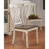 Dylan Side Chair (Set of 2) in Buttermilk & Oak - Acme Furniture 70333
