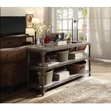 Gorden Console Table in Weathered Oak & Antique Silver - Acme Furniture 72685