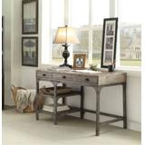 Gorden Desk in Weathered Oak & Antique Silver - Acme Furniture 92325