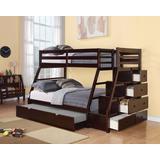 Jason (Storage) Twin/Full Bunk Bed w/ Storage Ladder & Trundle in Espresso - Acme Furniture 37015