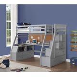 Jason II Loft Bed & Storage Ladder in Gray - Acme Furniture 37445
