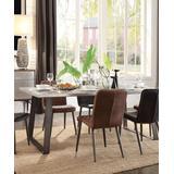 Kaylia Dining Table in Aluminum & Gunmetal - Acme Furniture 70105