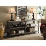 Gorden Console Table in Weathered Oak & Antique Silver - Acme Furniture 72680