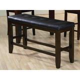 Urbana Counter Height Bench in Black PU & Espresso - Acme Furniture 74634