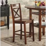Tartys Counter Height Chair (Set-2) in Cherry - Acme Furniture 72537