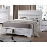 Naima Eastern King Bed w/Storage in White - Acme Furniture 25767EK