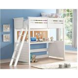 Lacey Loft Bed w/ Desk (Twin) in White - Acme Furniture 37670