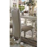 Versailles Side Chair (Set of 2) in Vintage Gray PU/Fabric & Bone White - Acme Furniture 61132